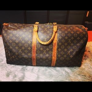 AUTH Louis Vuitton Keepall Bandouliere 55
